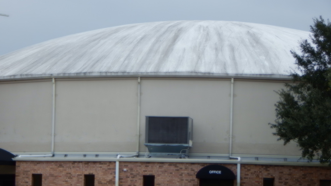 Cajun Soft Wash dome cleaning before3