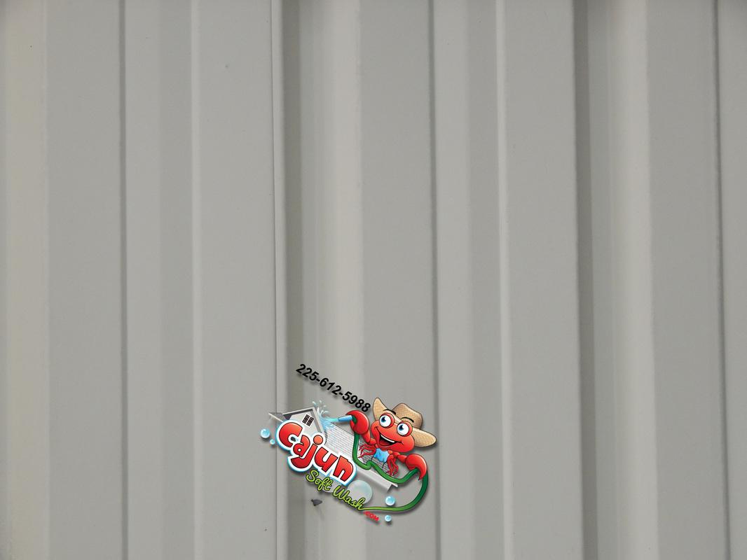 Cajun Soft Wash warehouse cleaning